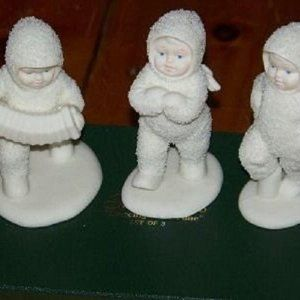 "Dept.56 Snowbabies ""Dancing To A Tune"" Set of 3"